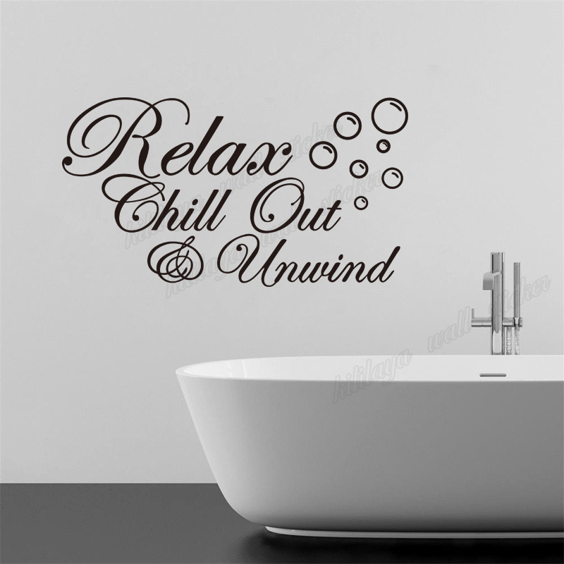 Diy Vinyl Wall Stickers For Bathroom Relax Chill Out