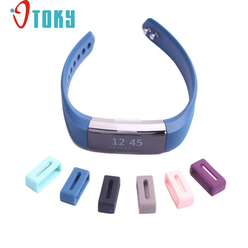 GEMIXI Watchbands Luxury Silicone Security Band Clasp Ring Loop Fastener For Fitbit ALTA