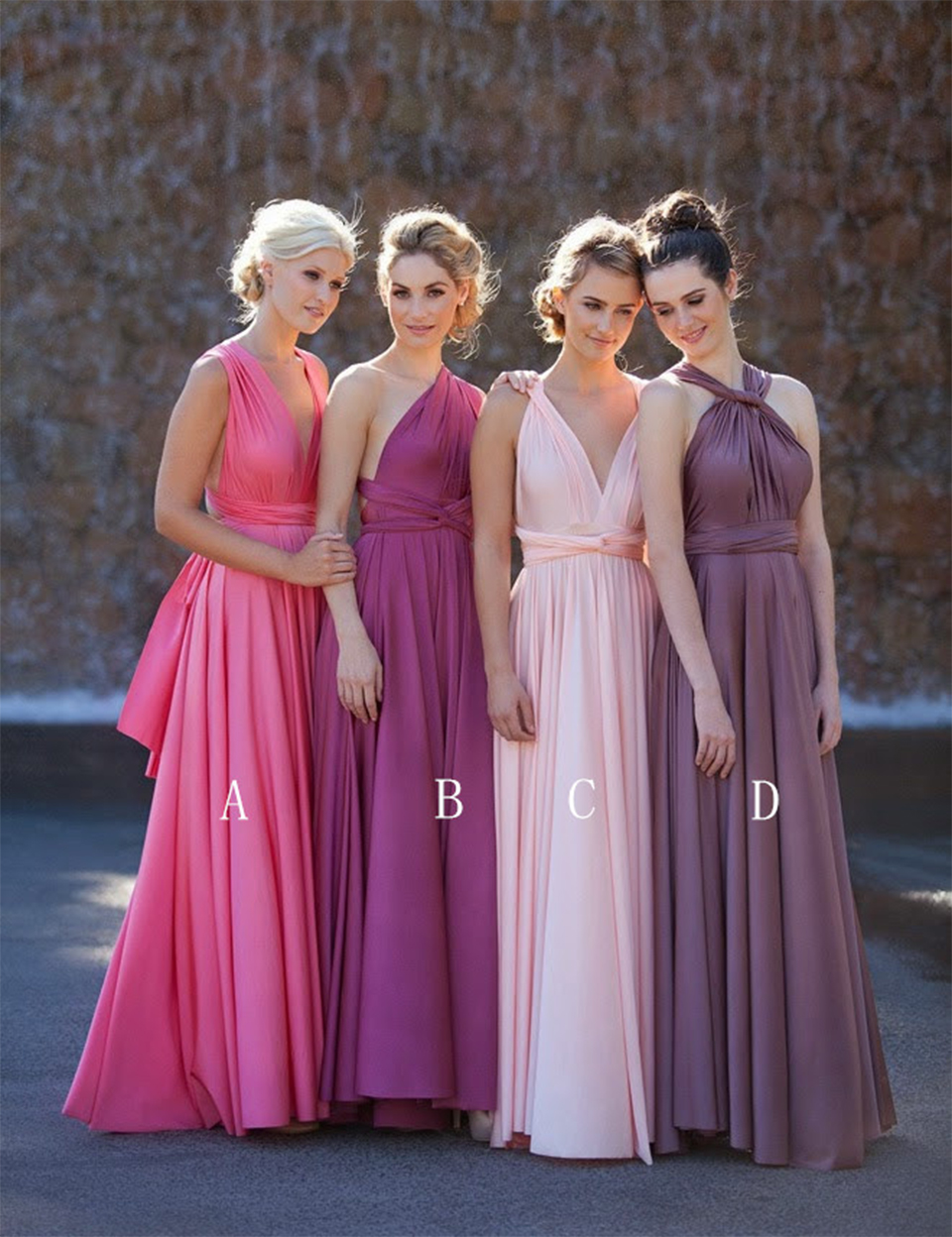 Online get cheap halter bridesmaid dresses under 100 aliexpress cheap long pink bridesmaid dresses under 100 pleat satin bridesmaid dresses one shoulder bridesmaid dress for ombrellifo Gallery