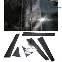 A4 High Quality Carbon Fiber Window B Pillars C Pillars Decorative Car Styling Trim For Audi A4L B8 B9 2013 UP