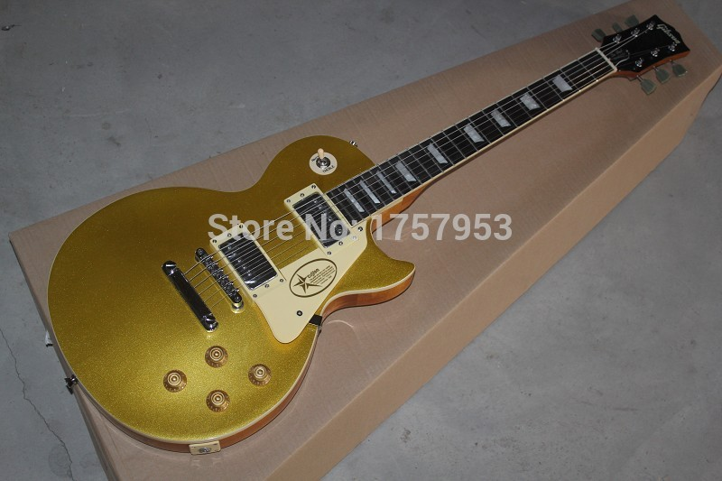 Free Shipping Factory custom shop 2017 new Top Quality One Piece Neck Standard Gold Top VOS Goldtop 1957 L Electric Guitar 1 1
