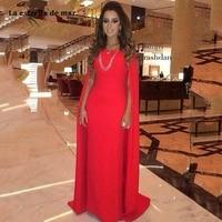 Abiye gece elbisesi2019 new satin word Boat Neck A line red Moroccan vestido festa longo beautiful ball dress custom abendkleide