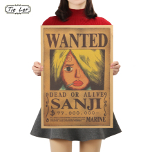 One Piece Wanted Movie Kraft Paper Bar Poster