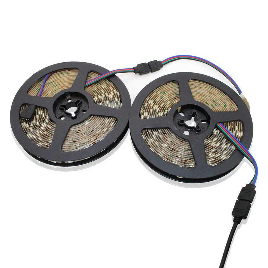 4 סיכות RGB LED קלטת מחבר 1 כדי 1 2 3 4 5 תקע חשמל ספליטר כבל 4pin מחט נשי מחבר חוט עבור RGB Led רצועת אור