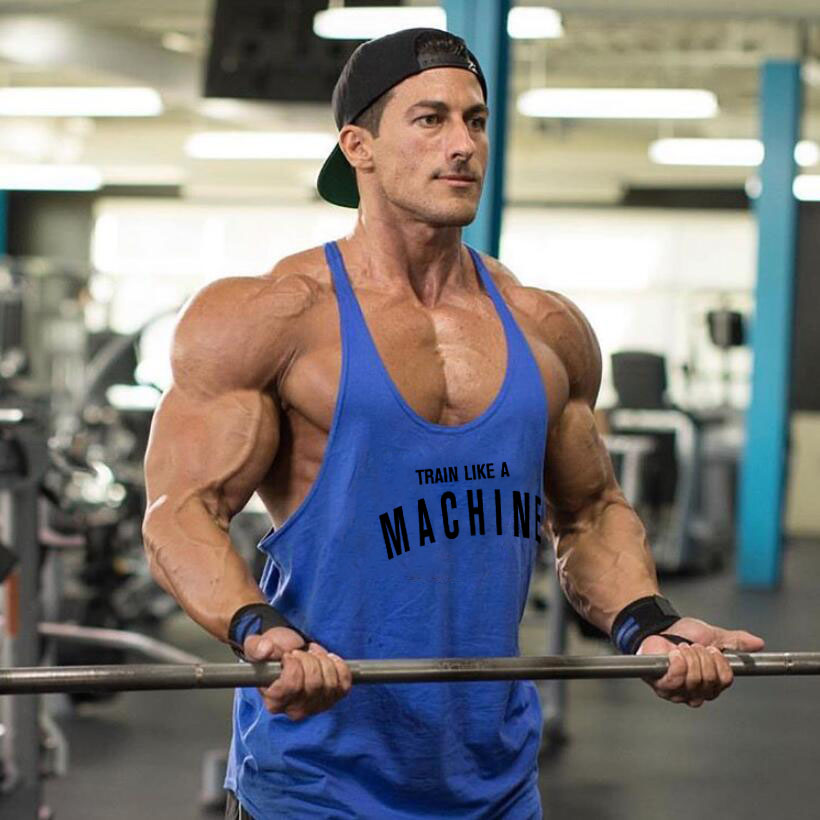 Muscleguys Stringers Mens Tank Tops Sleeveless Shirt,Y back Bodybuilding and Fitness Men's Gyms Singlets Clothes Muscle Regatas
