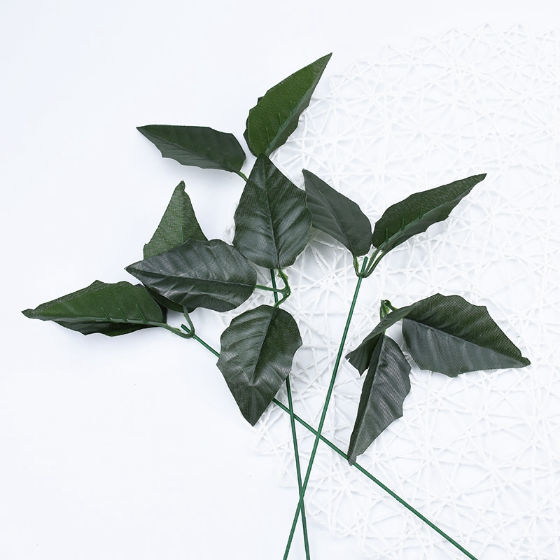 10pcs Artificial Plants For Christmas Home Decoration Cheap Silk Leaves Scrapbooking Diy Bridal Accessories Clearance Fake Leaf