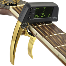High Quality Alloy Material TCapo20 Quick Change Key Capo Tuner For Acoustic Electric Guitar Bass Chromatic