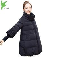 Autumn Winter parkas for women 2018 A type Cotton jacket Plus size Loose female Thick warm Trumpet sleeves cloak coat OKXGNZ2148