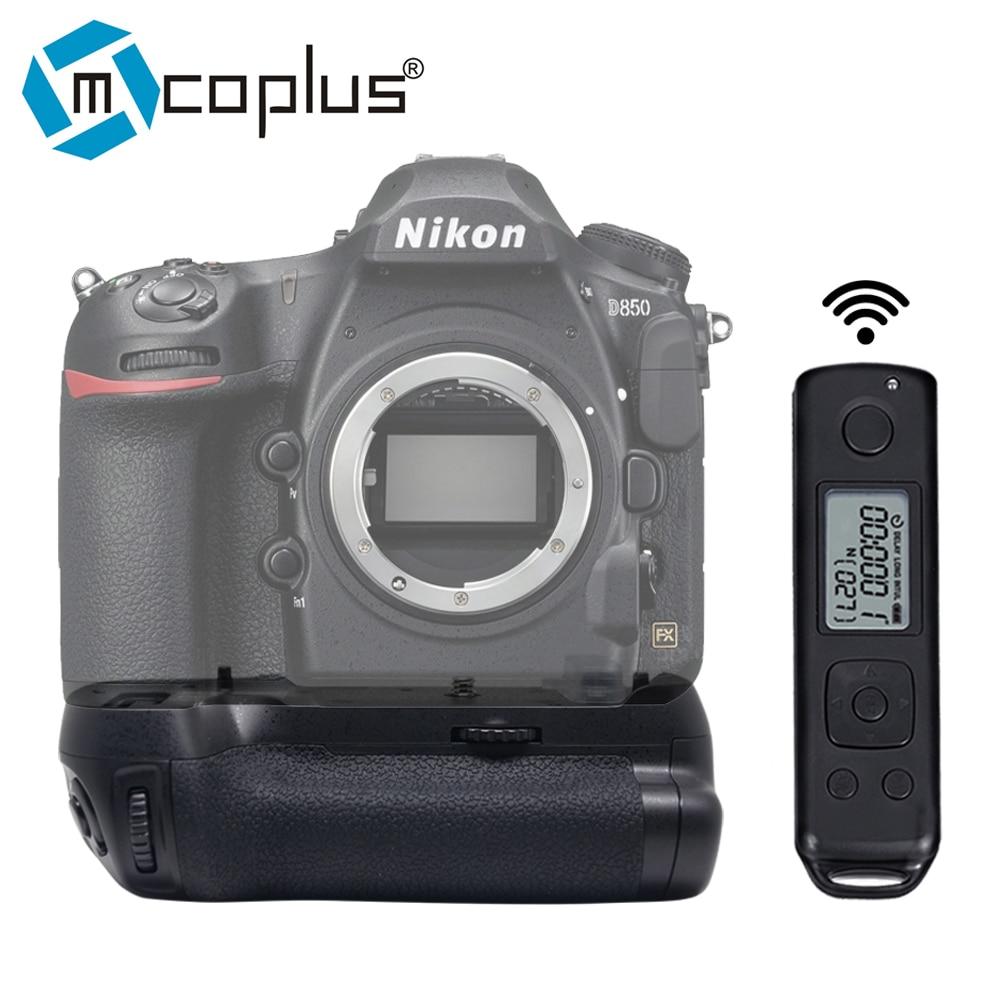 Mcoplus Meike MK-D850 Pro Tir Vertical Power Pack Batterie Grip avec 2.4G Hz Sans Fil Télécommande pour Nikon D850 caméra