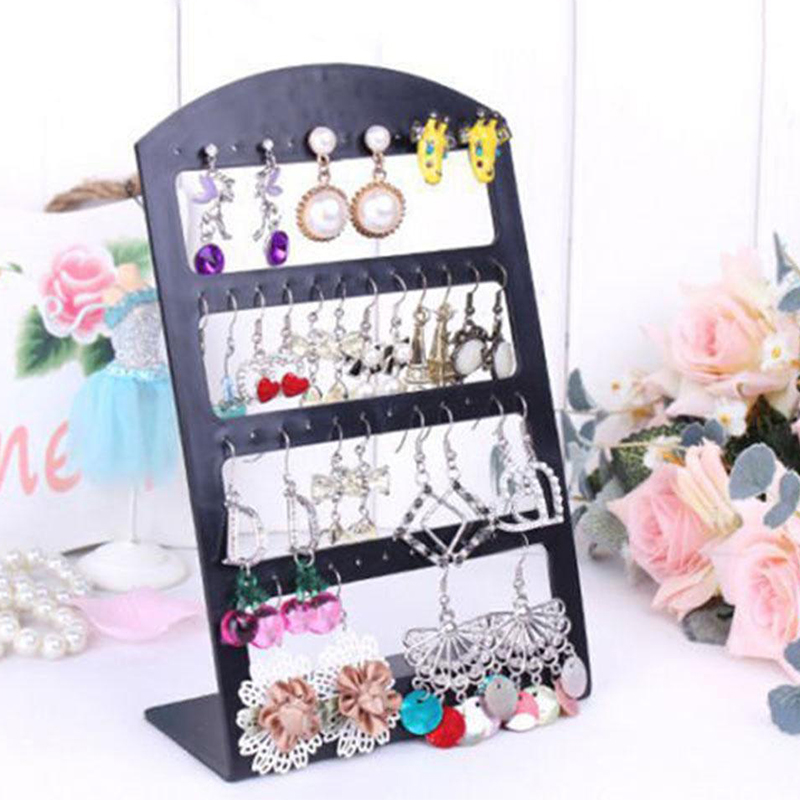 48 Holes Earrings Ear Studs Display Stand Hanging Closet Jewelry Storage Rack Jewelry  Accessories