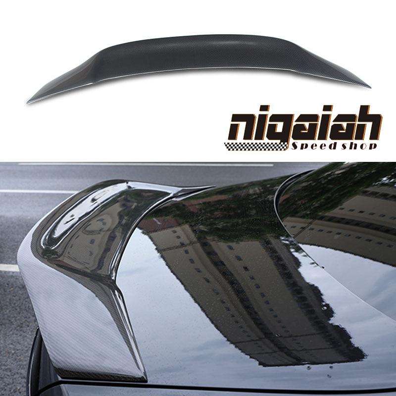 W213 R Type Spoiler Carbon Fiber Renntech style Trunk Spoiler / CF Back Wing for E-Class ...