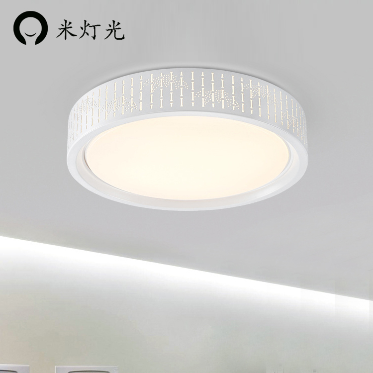 Modern Simple Led Acrylic ceiling lights, Round White/Black Color for living room bedroo ...