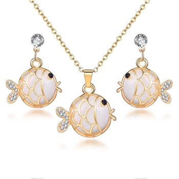 Classy Sparking Crystal Wedding Jewelry Set Jewelry Jewelry Sets Women Jewelry Metal Color: F1135