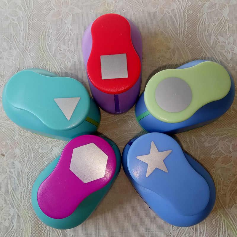 Trasporto Libero forme Geometriche craft punch per bambini FAI DA TE manuale foro punch Scrapbook Shaper Geometria di carta/eva schiuma puncher 1PC
