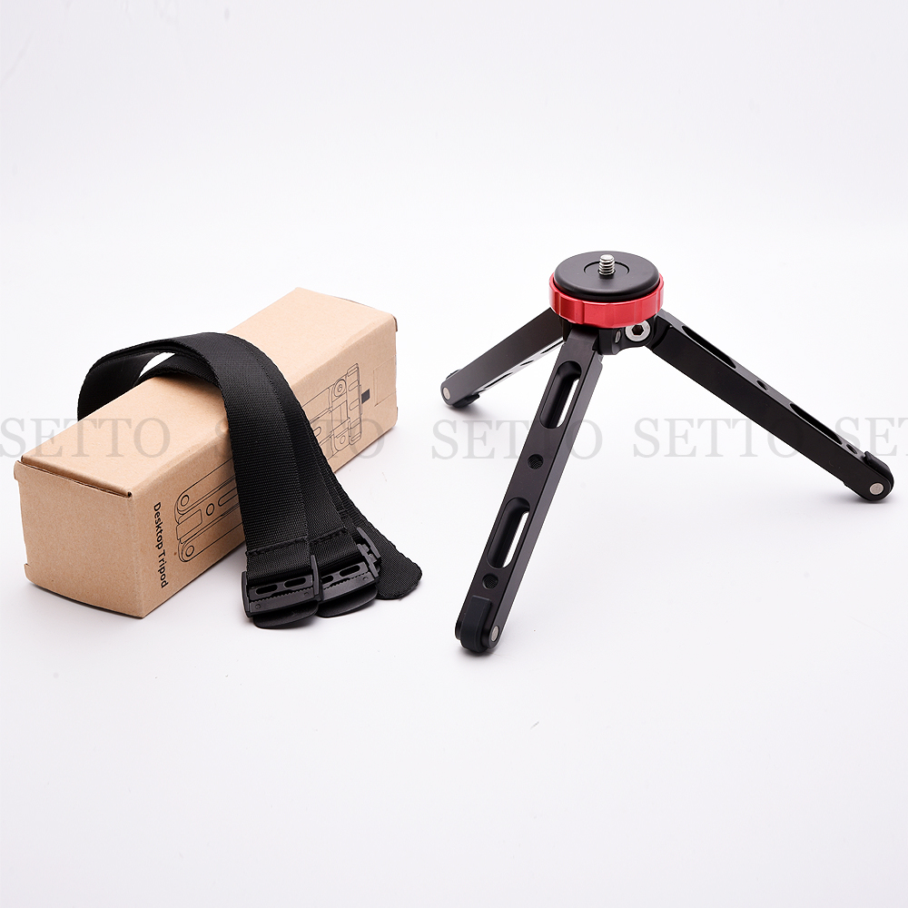 Lightweight Camera Tripod Compact Aluminum Tripod Desktop Mini Tripod with Ball