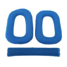 1 Pair Headset Sponge Ear Cushion Earpads Ear Pads + Headband Protector Replacement for Logitech G430 G930 Headphones