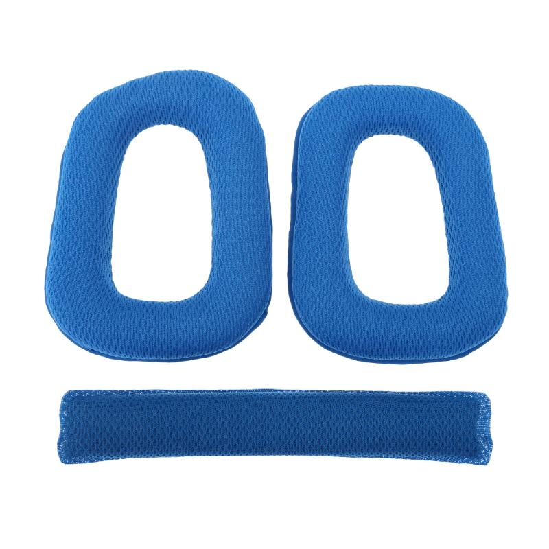 1 Pair Headset Sponge Ear Cushion Soft Earpads Ear Pads + Headband Soft Protector Replacement for Logitech G430 G930 Headphones image