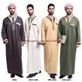 (Размер М, чтобы 3XL) Новый зеленый, кофе, бежевый, желтый С Длинным рукавом Полиэстер/хлопок Смешанные нити Джубба мужчины Абая саудовская арабских мужчин тобе