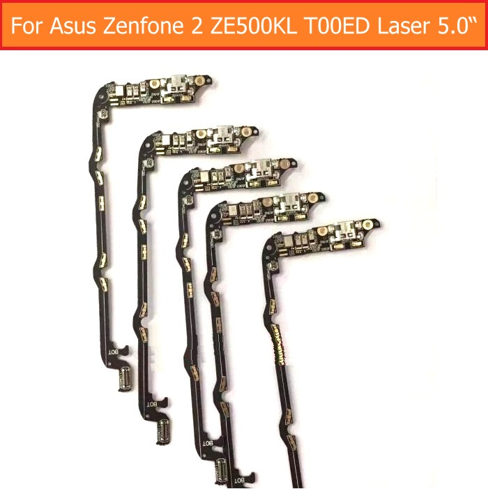 Hot Sale Genuine USB Charging Microphone PCB Connector Port Jack Board For Asus Zenfone 2 ZE500kL T00LD Laser 5.0