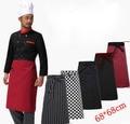 68*68 cm meio corpo avental do chef do hotel restaurante cozinha avental do cozinheiro chefe roupas garçom vestido costom logotipo do trabalhador