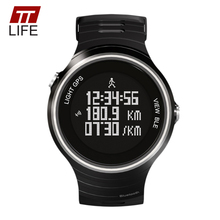 TTLIFE Hot Sale Bluetooth 4.0 Digital Noctilucent Waterproof Smart Watch Run GPS Fitness Sleep Track Message and Call Reminder