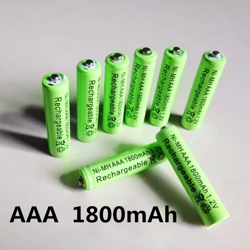 Rechargeable Battery AAA 1800mAh 1.2V NI-MH LED Toys Player Toys Recycling Batteries Mix Colors GTL EvreFire