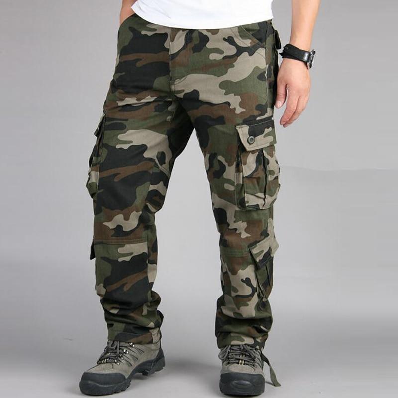HTB1ZytoagKTBuNkSne1q6yJoXXap Camouflage Pants Men Casual Camo Cargo Trousers Hip Hop Joggers Streetwear Pantalon Homme Multi-pocket Military Tactical Pants