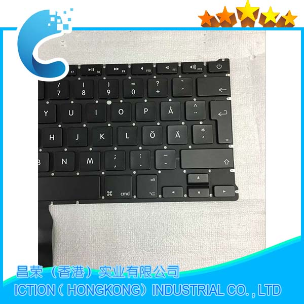 10pcs lots Brand New Swedish keyboard For Macbook Air 13 A1466 A1369 2011 2012 2013 2014