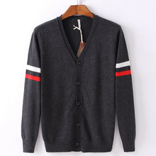 PORT&LOTUS Men Sweater Brand Clothing V-Neck Print Long Sleeve Pullovers Sweaters LS118R&017