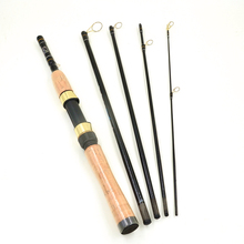 5 / 6 Section Portable Travel Spinning Fishing Rod Carbon Fiber Fishing Rod Pole 1.8M Fishing Tackle Fast Shipping