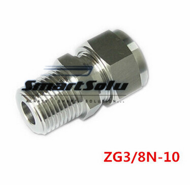 Free shipping Terminal Stainless Steel Connector Fitting,ZG3/8N-10 Thread, Homebrew Fitting,Straight terminal fittings 5pcs lot fbt 1 8 1 4 3 8 1 2 connector female branch tee stainless steel 316l tube fitting plumbing fitting high quality sanmin