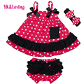 Sweet Princess Sleeveless Baby Girls Clothes Set Swing Top + Ruffled Bloomers Shoes Headband Summer Style Newborn Clothing 0-2Y