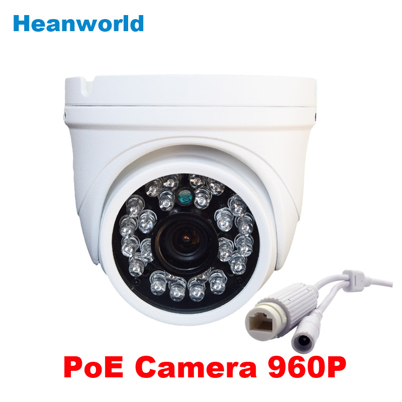 1.3MP Outdoor waterproof mini metal dome Ip camera 960p support POE cctv security surveillance webcam onvif Infrared IR camera wistino cctv camera metal housing outdoor use waterproof bullet casing for ip camera hot sale white color cover case