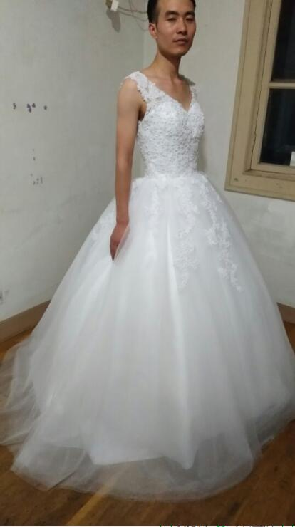 Ball Gown Bride Dresses Open Back Sexy Plus Size Wedding Dress Princess Style With Lovely Lace Appliques 2016 In From Weddings Events On