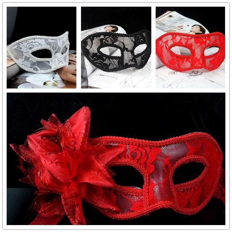 6 Style Attractive Feeling <font><b>Sexy</b></font> Women Black Lace Eye Face <font><b>Mask</b></font> Masquerade Ball Prom <font><b>Halloween</b></font> Costume Wedding Party image