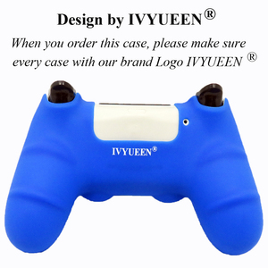Image 5 - IVYUEEN New Version Silicone Case for Dualshock 4 for PlayStation 4 PS4 Pro Slim Console Skin Cover with Controller Grip Caps