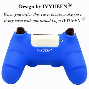 Image 5 - Ivyueen新バージョンシリコーンケースデュアル4プレイステーション4 PS4プロスリムコンソールとコントローラグリップキャップ