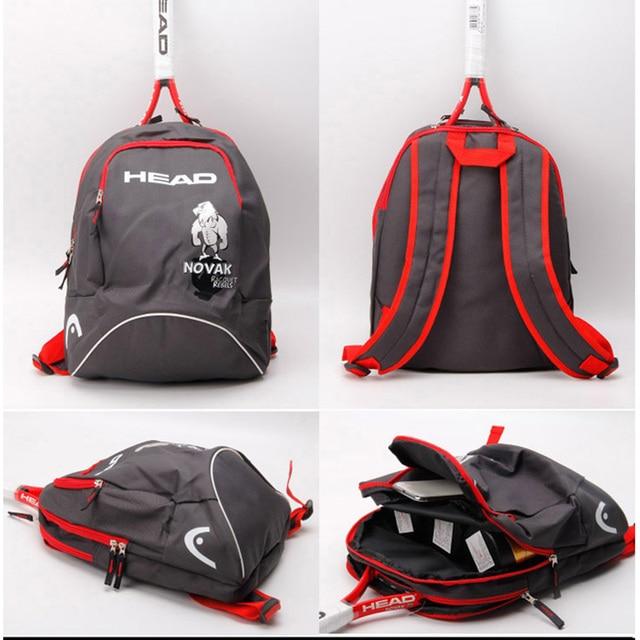 988abad86d3 Los niños la raqueta de tenis bolsa de deportes de raqueta mochila  entrenamiento estrella Original de
