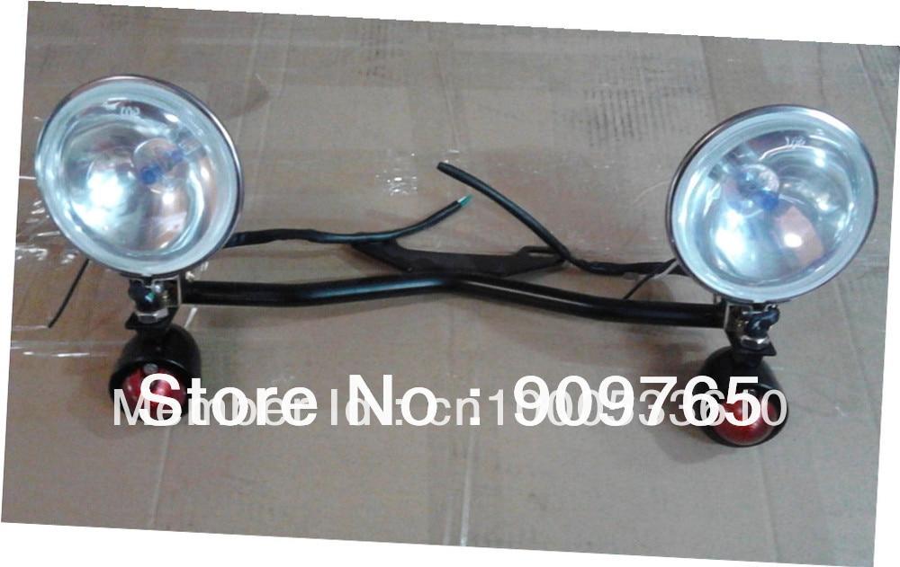 Free Shipping 1 set Amber Driving Turn Signal Lamp Passing SpotLight Light Bar For Yamaha Road Royal V Star XVS XV 650 1100 1300