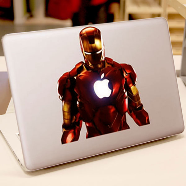 Super Heroes Iron Man Color Ironman Vinyl Decal Laptop Skin Case For Apple  MacBook Air Pro