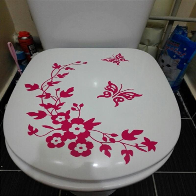 Decorative Butterfly Toilet Stickers 3