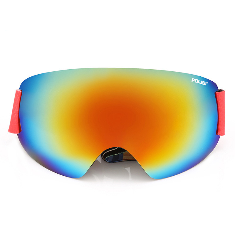The new ski mirror double - layer fog - free skis skiing glasses mountaineering outdoor wind goggles large spherical