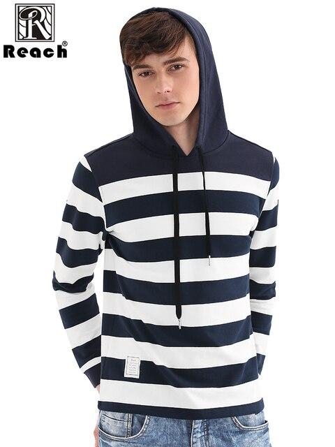 Reach Mens Long Sleeve Hoodie Winter Hoodies Men Striped Sweatshirts Print Pullover Tops Homme hooded Hoody Shirts European Size