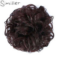 Similler Women Curly Hair Bun Extensions Stretch Chignon Updo Hairpiece Versatile Hair Band Highlight for Wedding