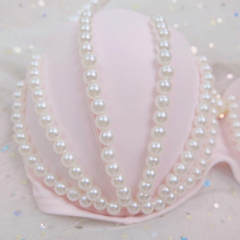 [STOCK] NEW Cute Swimsuit Mermaid Bikini swimwear Pink Shell Bra Pearl Decoration Summer Lolita Sweet Cloth free ship 3