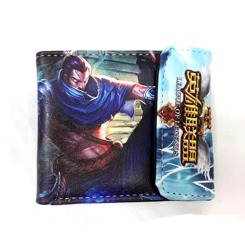 New Design LOL Hero Wallet With Card Holder Dollar Price Free Shipping Bulk Price 2016 new arrive pvc and pu leather purse american marvel comic deadpool wallet with card holder dollar price free shipping