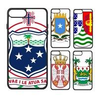 Somalië Afrika Iran Servië Hongarije Ijsland Nationale Embleem Land Symbool Telefoon Case voor iPhone X 7/8 Plus Gevallen Phonecase Cover