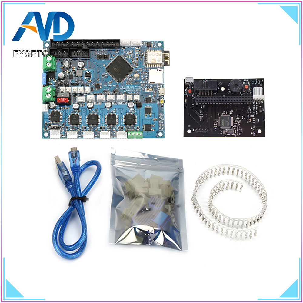 Cloned DuetWifi Duet 2 Wifi V1 04 Advanced 32bit Motherboard With PanelDue Connected Board For 3D
