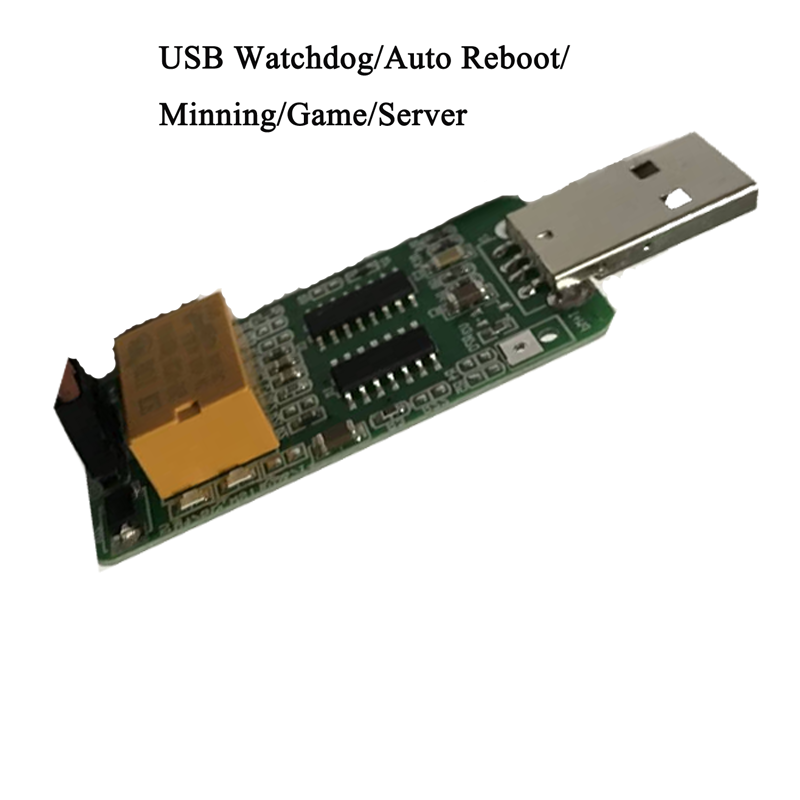 USB Watchdog Card / Computer / Unattended Automatic Restart Blue Screen / Mining / Game / Server 24 hours Computer Sensor Switch asia blue card 100g