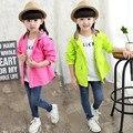 Chegada nova primavera outono crianças crianças jaqueta casaco de design da marca do bebê meninas trench roupas meninas de alta qualidade